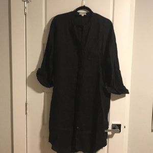Janes Perse Black linen dress